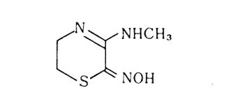 5, 6-dihydro-3-(methylamino)2 H -1,4-thiazin-2-one, oxime