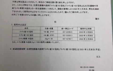 5-FU錠50協和のパンフレット